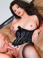 Thick big tit tranny Britney Markham tops stud in hardcore sex scene