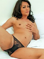 Sexy solo action of young Thai ladyboy